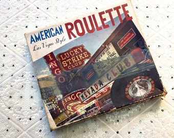 Vintage Las Vegas Style American Roulette Game