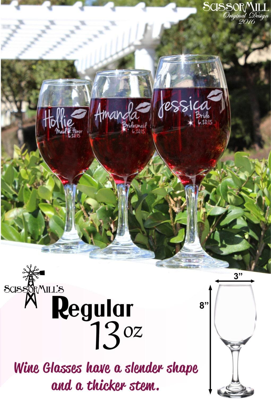 Bridesmaid Gift Bridesmaid Wine Glasses Bridesmaid By