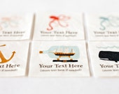 Nautical Custom Clothes Tags - Personalized Fabric Clothing Labels, Organic Cotton