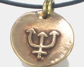 Truth Seeker Nautical Talisman - Trident Neptune's Fork - Copper Pendant Necklace or Keyring