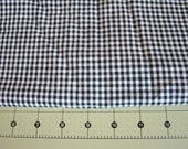 black and white gingham fabric - 4 yards - 100% cotton