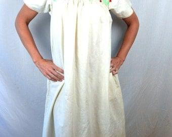 AMAZING Rare Vintage 70s Oaxaca Mexican Geometric Embroidered Dress