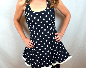 WOW 80s Polka Dot Ruffled Party Dress - By Rampage