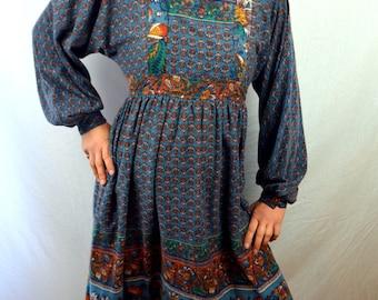 Vintage 1970s Hippie Boho Tent Dress