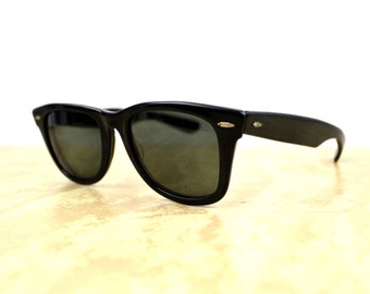 Vintage 50's Distressed Vintage Ray Ban Wayfarer Sunglasses