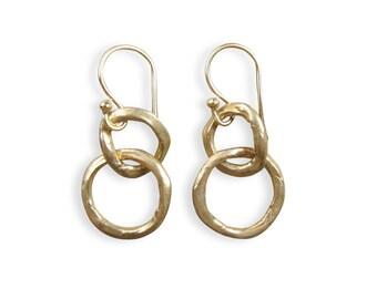 Circle Earrings - Hoop Earrings - Metalwork Earrings - Circle Earrings - Gifts for Women - Friendship Earrings (EB-CWG-B)