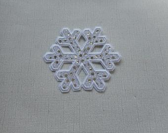 Free Shipping   Ready to Ship Snowflake  Machine Embroidery Iron on applique