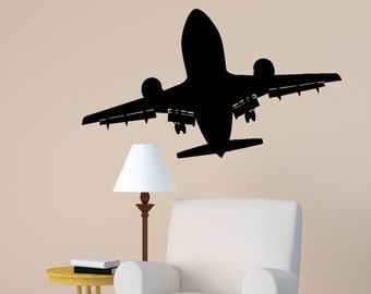 Aircraft Wall Decal Jet Airliner Sticker Aviation Room Decor Kids Boys Room  Mural Airplane Jet College