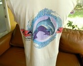 Sea World Florida 1980s vintage sleeveless shirt - tan size small