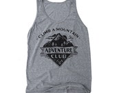Adventure Tank Top - hiking graphic tee, camping shirt, gifts for outdoor people, mountain and nature tank