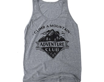 Hiking Shirt, Camping Shirt, Gift for Him, Nature Lover Gift, Graphic Tank - Adventure Club: