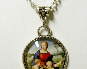 Madonna and child pendant and chain - AP05-059