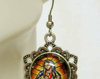 Our Lady of Guadalupe earrings - AP03-203