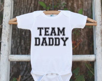 Kids Team Daddy Shirt - I Love Dad Fathers Day Onepiece or Tshirt - Baby Girl or Boy, Toddler, Infant, Newborn, Fathers Day Gift