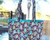 Owl handbag - Owl Tote Bag / Owl diaper bag / Owl baby bag / Owl handmade bag - Owl purse