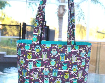 Owl handbag - Owl Tote Bag / Owl diaper bag / Owl baby bag / Owl handmade bag - Owl purse