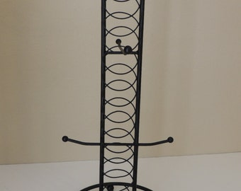"15"" Tall Black Metal Jewelry Display. Metal Jewelry Rack. Earring, Necklace and Bracelet Holder"