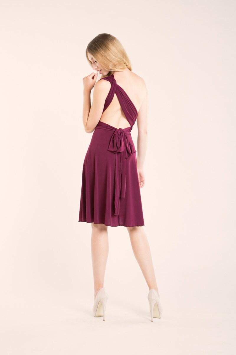 SALE 20% OFF Burgundy short dress bridesmaid burgundy dress