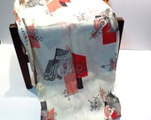 Mid Century Space Age Light Weight Fabric Vintage 1950s Retro Drapery Fabric