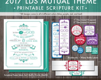 2017 LDS Mutual Theme Printable Kit (Instant Download) - If Any Of You Lack Wisdom, Let Him Ask Of God