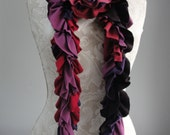 SALE - patchwork petal SCARF by FAIRYTALE13 - reds and purples.