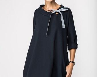Classic dress   French dress   Deep Blue dress   LeMuse classic dress