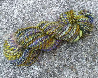 "Colorway ""Swamp"" Handspun Bulky Weight Yarn Merino Wool"