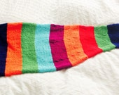 Toddler Rainbow Mermaid Tail Blanket, Child  Mermaid Blanket, Striped Mermaid Blanket, Rainbow Mermaid Tail Blanket, Baby Mermaid Blanket