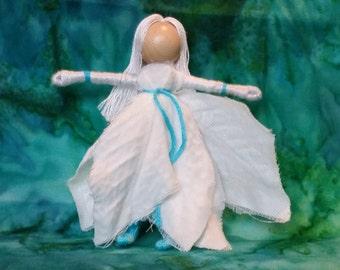 Christmas fairy, Waldorf Flower Fairy doll,  worry doll, art doll