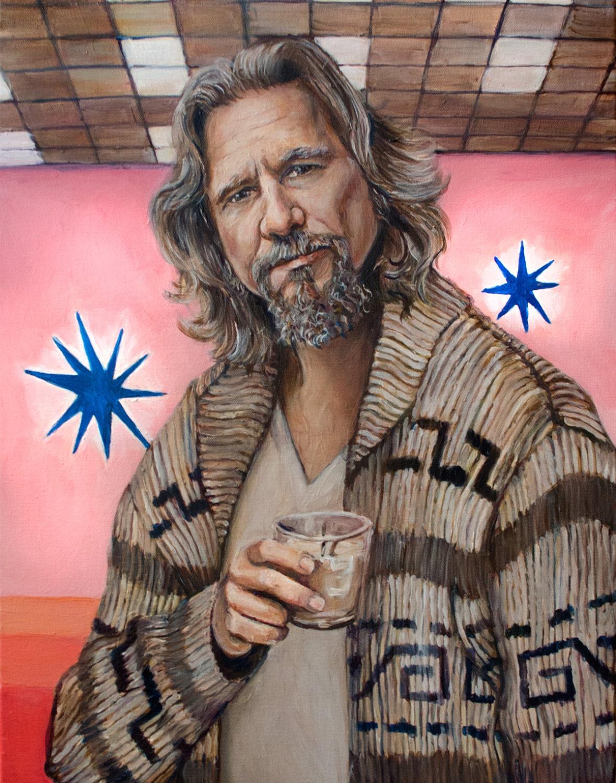 The Dude Acrylic Portrait Painting Print The Big Lebowski