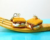 Food Jewelry Campfire S'mores Miniature Food Earrings MADE TO Order