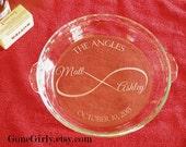 Infinity Custom Engraved Pie. Endless Love Wedding or Anniversary Pie Plate