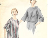 VOGUE 8009 Size 12 Bust 30 Overblouse Top Shirt Rare Vintage 1950's Pattern
