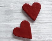 Magnets, Red Heart, Heart Magnet, Wedding favors, Valentine Heart, Stocking Stuffers, Valentine Gift, Salt Dough Magnets