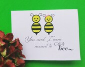 Valentines Day Card, Meant to Bee Wedding Card, Anniversary Card husband card  wife card DIY Printable Note for Groom