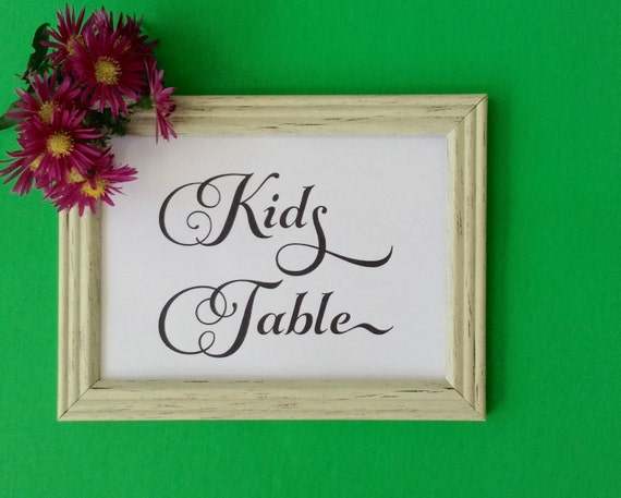 Wedding party Printable, Kids Table Sign, Wedding Sign, Party Decor, Activity Table, INSTANT DOWNLOAD, Wedding Reception