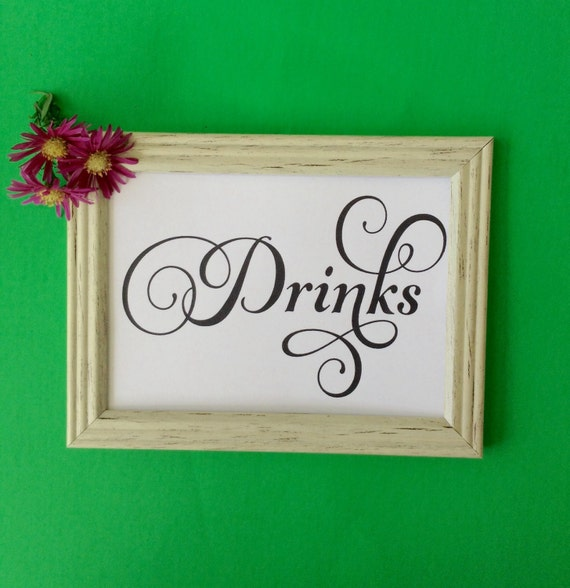 Party Printable, Wedding Printable Sign, Drinks Printable Sign,  INSTANT DOWNLOAD