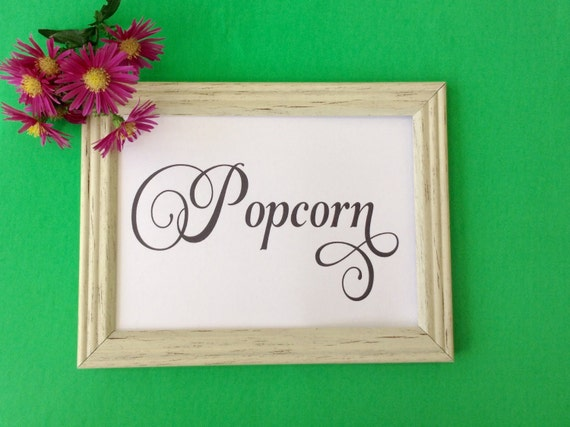 Popcorn Sign, Party Sign, Printable, Party Decoration