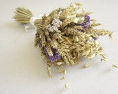 Fall wedding bouquet Wheat bouquet Natural dried wheat, oat, statice Rustic wedding bouquet Something blue bouquet