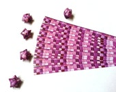 Lucky Stars Paper Strips - Amethyst, Pink gemstone Mosaic, Ombre, Tiles