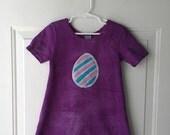 Girls Easter Dress (4T), Easter Egg Dress, Easter Sunday Dress, Girls Easter Egg Dress, Batik Easter Dress
