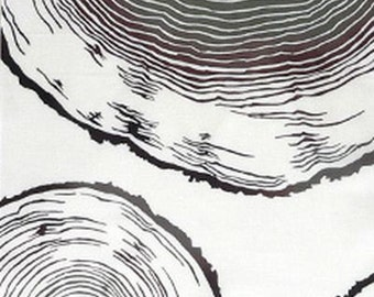 Japanese Tenugui Fabric, Annual Ring, Tree Stump, Botanical, Plant Design, Modern Art Wall Tapestry, Fashion Fabric, Home Decor Fabric, r002