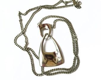 Dark Silver Necklace, Metal Necklace, Silver Chain Necklace, Pendant Necklace Silver, Direction One Designer Jewelry Silver Pendant Necklace