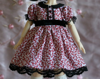 Cute red and black dress for YoSD BJD