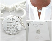 Sympathy Gift, Angel Wing, Necklace, Personalized Gift, Loss of Mother, Loss Of Mom, Memorial Gift