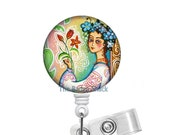 Russian Spring - ID Badge Holder - ID Badge Reel - Registered Nurse  Badge Reel - Nursing Badge - Teacher Badge Reel - Medical Badge - CNA