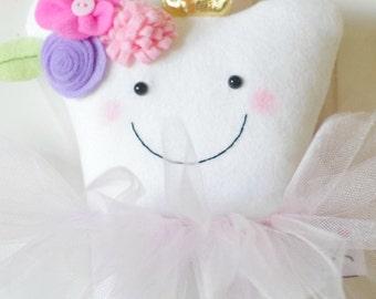 Garden Fairy Tooth Fairy Pillow (Monogrammed)