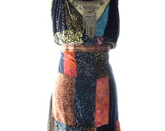 Sexy Indian Print Patchwork Festival sundress, Bohemian gypsy sundresses, Hippie chic, Boho Music Festival Clothing, True rebel clothing LG