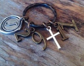 CHRISTIAN KEYRING, Scripture keychain, Jeremiah 29:11, For I know the plans I have for you says the Lord, plans for hope and a future