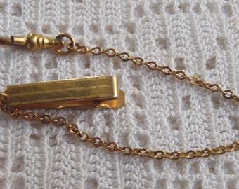 Vintage Watch Chain Engraved Vest Bar Clip  H. A. A. & Co.